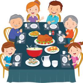 Thanksgiving dinner. Family dinner